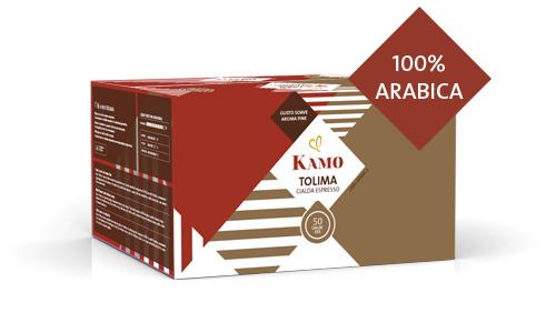 confezione cialde caffè Kamo Tolima